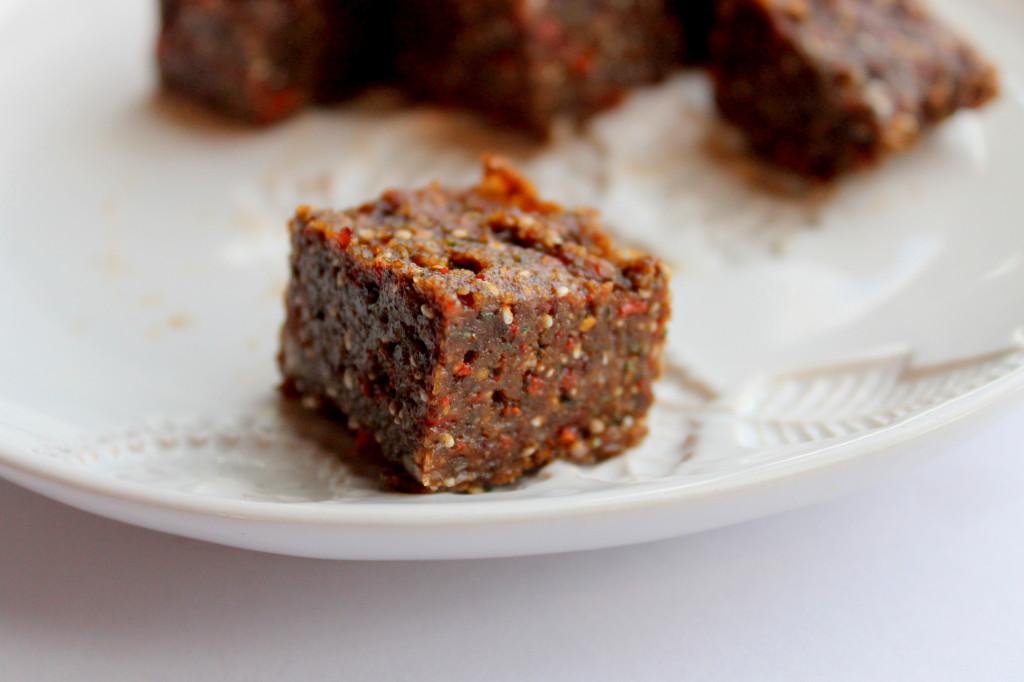 A New beginning + A New Recipe: Cacao-Goji-Maca Squares