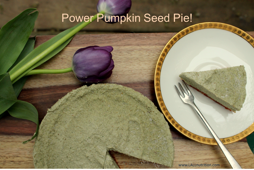 My Power Pumpkin Seed Pie – Raw, vegan, gluten-free and delicious!